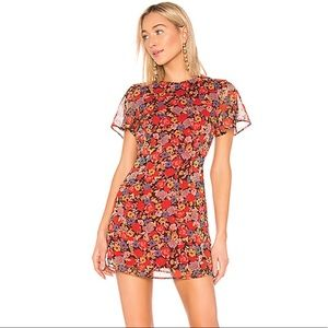 REVOLVE Lotte Dress in Red Mixed Floral
